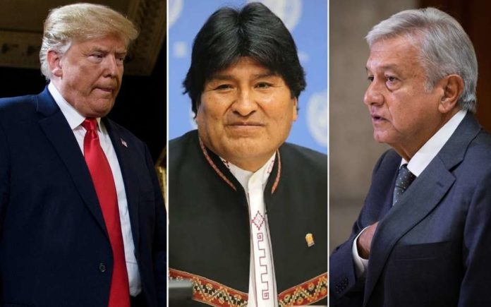 AMLO, Evo, Trump