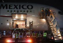 China envío mascarillas a México