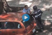 Policía capitalino acepta mordida