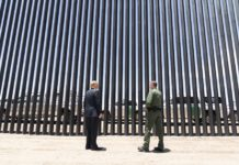 Trump en el muro previo a visita de López