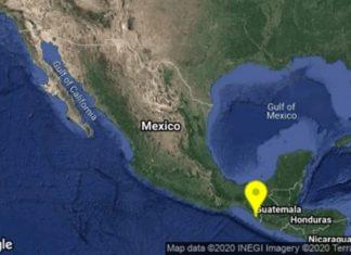 Registran sismo en Chiapas