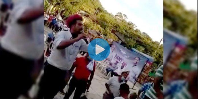 El candidato del PESH se peleó con un ciudadano