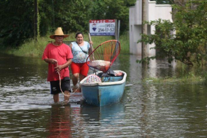 Inundaciones en Tabasco y AMLO