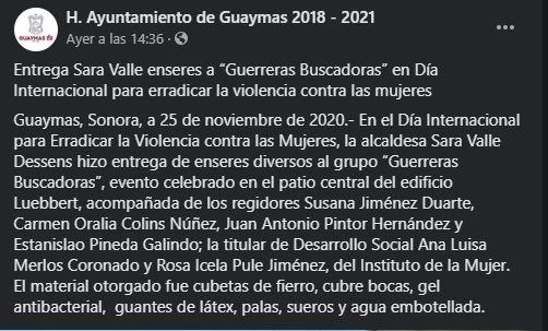 Insensible alcaldesa de Sonora