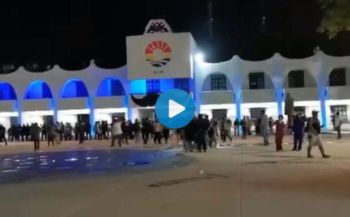 Dispersan manifestación con balazos