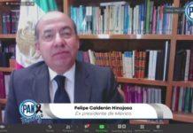 Calderón critica el manejo de la pandemia