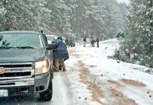Severas nevadas en Chihuahua