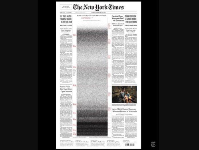 El NYT recuerde a los muertos por el virus