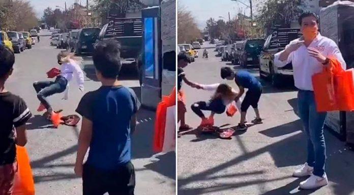 Esposa de Samuel García cae de patineta
